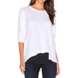 Wilt - Slouchy Shifted Slant Long Sleeve Top