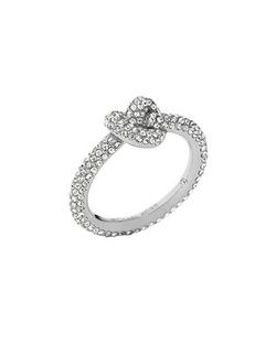Michael Kors  - Pave Glass Knot Ring