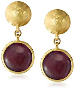 Gurhan - Cabochon Ruby Drop Earrings