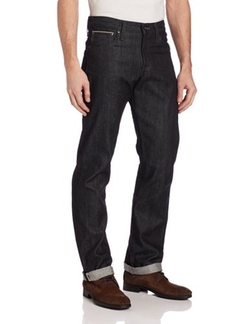 Naked & Famous Denim - SlimGuy Midrise Jean In Black Selvedge
