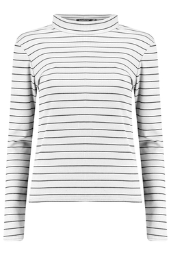 Boohoo - Maisie Stripe Turtle Neck Sweater
