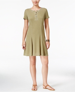 G.H. Bass & Co.  - Burnout Fit & Flare Dress