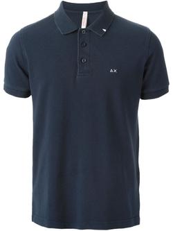 Sun 68  -  Distressed Polo Shirt