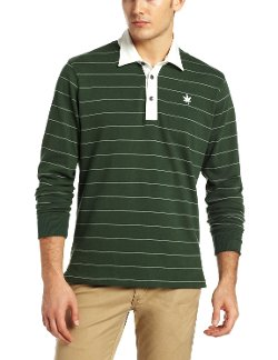 Boast - Long Sleeve Stripe Polo Shirt