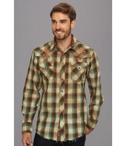 Roper  - Western Shirt Mens L/S Plaid Snap Brown