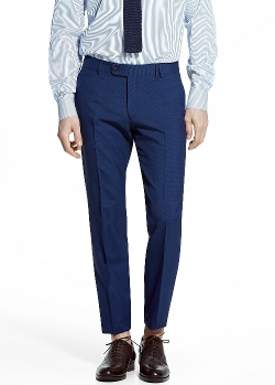 Mango - Wool-Blend Suit Trousers