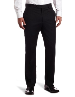 Tommy Hilfiger - Flat Front Trim Fit Wool Suit Pant