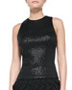 Aidan Mattox   - Sequined Sleeveless Top