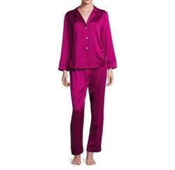 Oscar de la Renta - Satin Jacquard Pajama Set