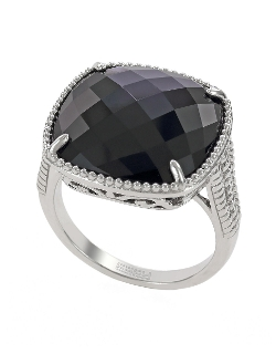 Effy - Sterling Silver & Onyx Ring