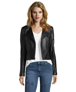BCBGMAXAZRIA - Faux Leather Brock Moto Jacket