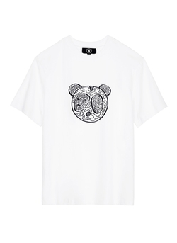 Nicopanda - Panda Illustration Print T-Shirt