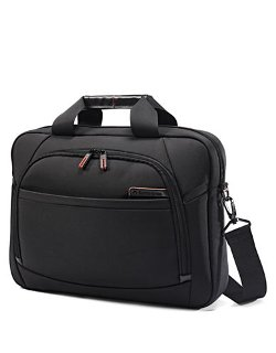 Samsonite  - Slim Nylon And Leather Briefcase