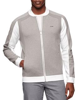 Calvin Klein - Ponte Colorblocked Zip Jacket