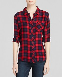 Rails Shirt - Hunter Plaid Shirt