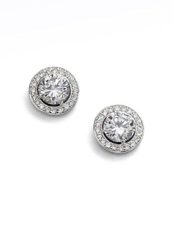 Adriana Orsini  - Round Framed Stud Earrings