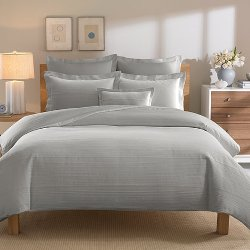 Real Simple - Linear Grey Duvet Cover