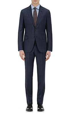 Barneys New York - Plaid Two-Button Suit