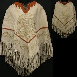 Vintage Trends - Suede Poncho