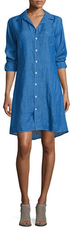 Frank And Eileen - Murphy Button-Front Linen Shirtdress