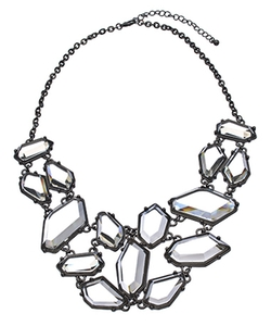 Max & Chloe - Crystal Freeform Bib Necklace
