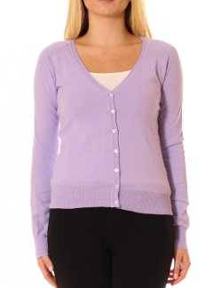 Ambiance - V-Neck Button Cardigan