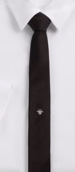Dior Homme  - Embroidered Bee Silk Tie
