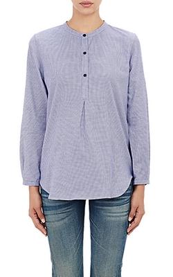 Alexander Olch - Houndstooth Flannel Henley Shirt