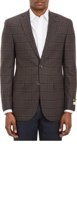 Barneys New York - Plaid Super 120