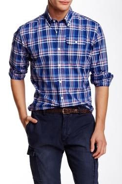 Gant By Michael Bastian  - The MB End Zone Check Poplin Long Sleeve Shirt