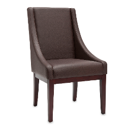 Safavieh  - Sloping Arm Chair In Brown Leather