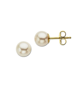 Lord & Taylor - Yellow Gold Freshwater Pearl Stud Earrings
