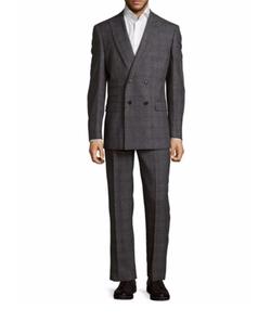 English Laundry - Windowpane Double-Breasted Suit