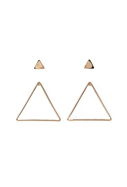 Forever21 - Cutout Triangle Earring Set