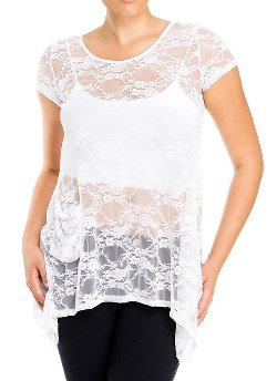 eVogues Apparel - Sheer Floral Lace Top