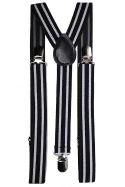 Aj Accessories - Youth Pinstripe Suspenders
