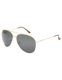 Blue Crown - Half Frame Aviator Sunglasses
