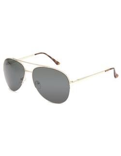 Blue Crown - Half Frame Aviator Sunglasses