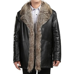 Xinyian - Fur Collar Long Warm Coat