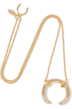 Giles & Brother  - Gold Plated Crystal Necklace