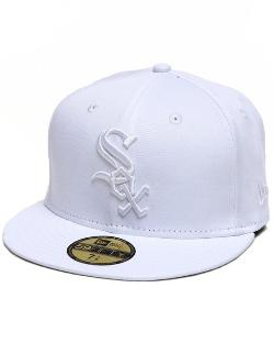 New Era - Chicago White Sox Mlb White On White 5950 Fitted Hat