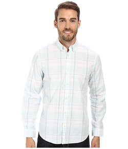 Calvin Klein  - Plaid Check Button Down Collar Woven Shirt
