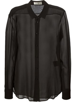 Saint Laurent   - Classic Sheer Blouse