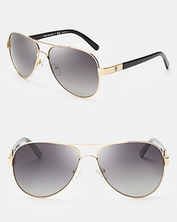 Tory Burch - Polarized Aviator Sunglasses