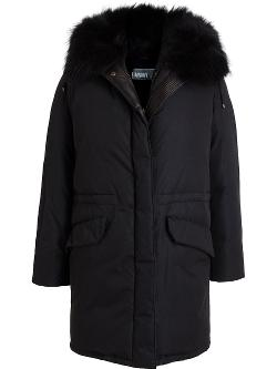 Yves Salomon - Rabbit Fur Lined Puffa Jacket