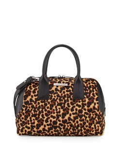 Charles Jourdan - Dacey Leopard-Print Satchel Bag