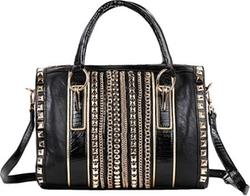 Nicole Lee - Faux Leather Boston Bag