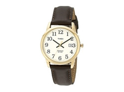 Timex Classic  - Analog Gold Case Brown Leather Strap Watch