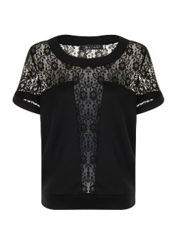 Dorothy Perkins - Lace Panel T-Shirt