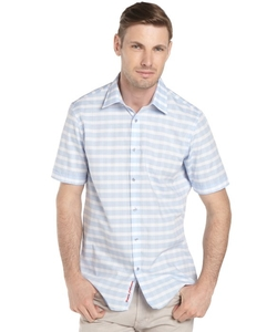Report Collection  - Gingham Stripe Short Sleeve Shirt